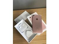 Apple iphone 7 Rose Gold 32gb with apple warranty