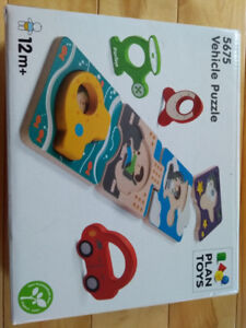 4 Wooden toddler puzzles plus 8 mini non-wood puzzles
