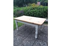 Shabby Chic farmhouse pine kitchen table