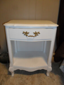 Refinished White French Provincial Night Table