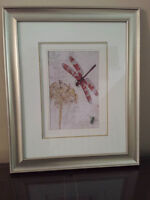 Set of 3 Dragonfly/Butterfly Prints