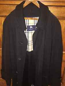BURBERRY BLACK TRENCH COAT WITH REMOVABLE LINING