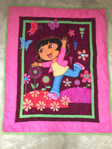 Dora Baby Hand Quilted Quilt