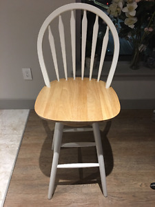 Set of two bar stool style chairs