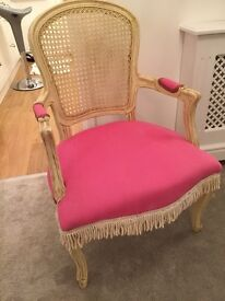 Chabby Chic French Ornate Cream & Pink Chair