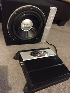 ^*** JBL SUBWOOFER WITH BASSWORX BOX MATCHING AMP!!