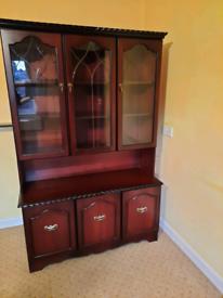 Tall sideboard display cabinet