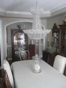 CRYSTAL CHANDELIER   (Magnificent for Entrance or Dining Room)