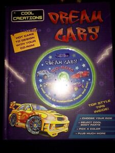 BRAND NEW Cool creations dream cars pc game/book