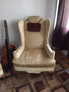 2 matching wing back chairs Windsor Region Ontario image 1