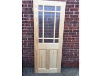 2x new doors wood/ glass