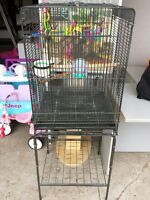 Metal Bird Cage with Stand