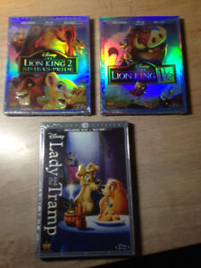 BluRay Disney Neuf! Belle et la Bête -Roi Lion 1,2,3 Monsters in