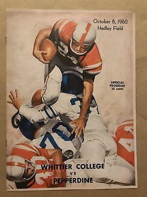 Whittier  Pepperdine College Football Program   1960   Ex