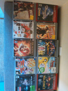 PS3/Wii games for sale