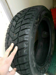 2-Winter tires with alot of tread on them size 205 55 16
