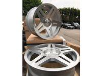 "Stuttgart st11 18"" alloy wheels Alloys Rims tyre tyres bmw 1 2 3 4 series Vw Volkswagen T5"