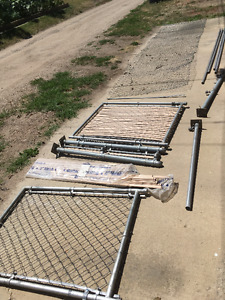 18 feet of Chain Link Fence and 2 Gates