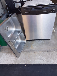 Dishwasher and Stainless Steel Double Kitchen Sink