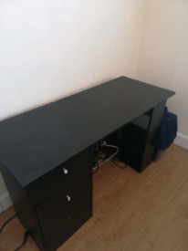 Home Desk, office table, black. FREEBIE, COLLECT TODAY!