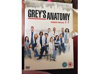 Grey's Anatomy boxset 1-7 season