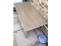 Lloyd loom coffee table 120 lengthx 60 wide excellent condition