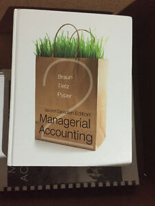 Managerial Accounting Second Canadian Edition Braun Tietz Pipe