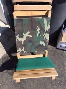 Chaise pliante artisanale en bois
