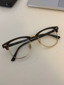 Lightly Used Ray Bans Clubmaster Glasses