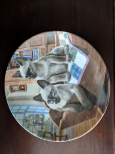 Kaiser Porcelain plate 1st Ed. - American Cats: Kits in cradle