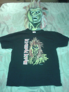 Iron Maiden Eddie mask and shirt (from the Killers album)