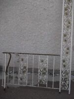 """RAILING - 8' long x 8' high one end, the other end is 5' x 32""""."""