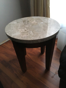 Marble top end table. $150