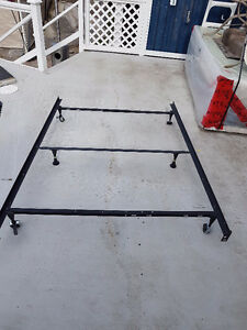 Metal Bed Frame (Extends to fit a double bed)