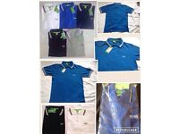 Hugo boss men's polo t shirt short sleeves green label £18 each cotton