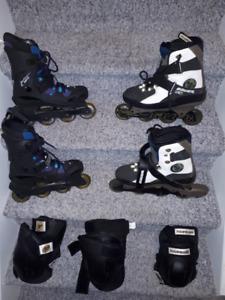 Roller Skates + Pads