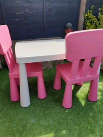 Kids table with chairs