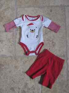 Christmas Outfit Size 1mth/10lbs