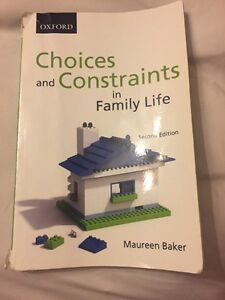 Choices and Constraints in Family Life Textbook Kitchener / Waterloo Kitchener Area image 1