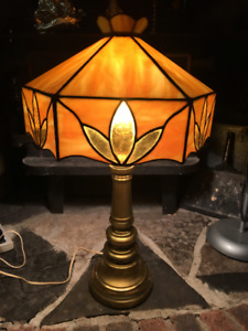 Solid brass Tiffany style lamp