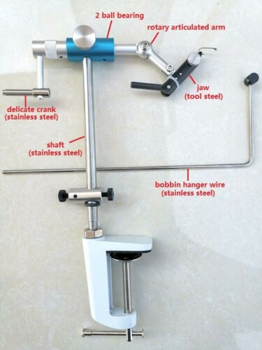 Fly Tying Vise Rotary C-clamp