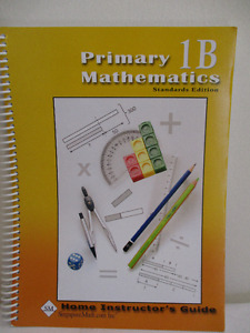 Singapore Primary 1B Math Standards Ed. Home Instructor's Guide