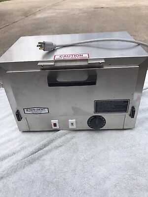 Used Stainless Stee Steri-dent Model 200 Fda Dry Heat Sterilizer 8375