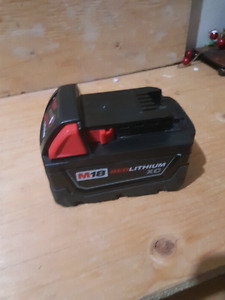 Milwaukee 18V Red Lith. Battery. XC /  2 Charges