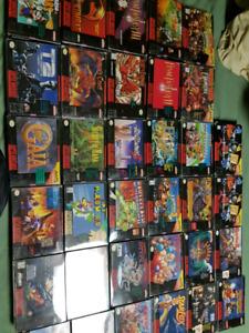 Super Nintendo Games CIB