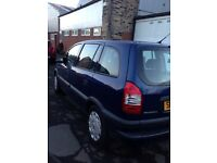 2005/55 Vauxhall zafira 1.6 petrol 7 seater