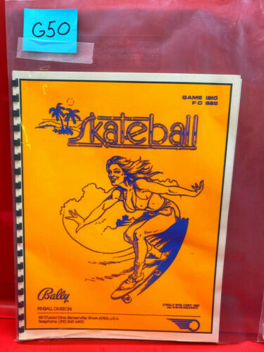 Skateball Bally Pinball Instruction/Operation/Service/Repair Manual Guide G50