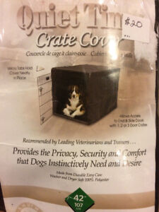"""Quiet time dog crate cover 42"""""""