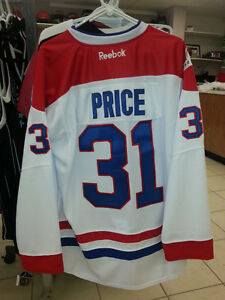 New CAREY PRICE Reebok Fully Crested Home And Away Jersey