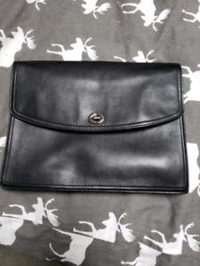 Coach black purse/bag/tablet case